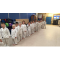 All ready for Karate