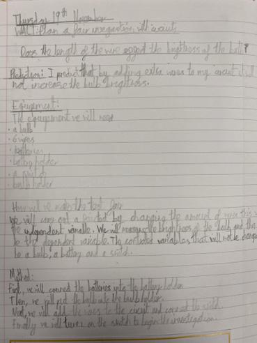 Writing about an Investigation