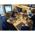 Creating a safari picture using chalk