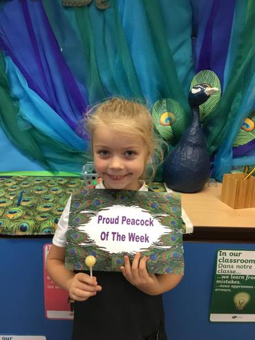 I am a role model and proud peacock of the week.