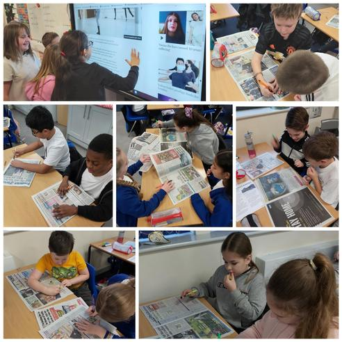 We read and highlighted the key features found in a newspaper.