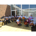 Mr. Hawley with the Y5 guitarists