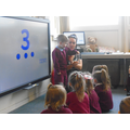Whole-class teaching and learning in Nursery