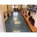 Corridor outside Reception class