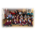 The choir sing in the local community at Christmas
