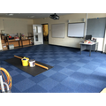 New carpet in new Y6 classroom
