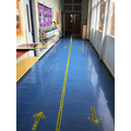 Corridor from the dinner hall to Reception class