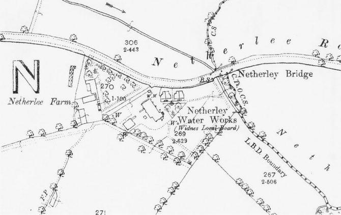 Netherley 1891 OS Map