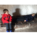 We went inside a Stone Age home.