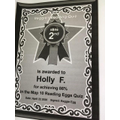 Holly's Reading Eggs Certificate - Congratulations