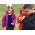 We got to examine lots of artefacts.