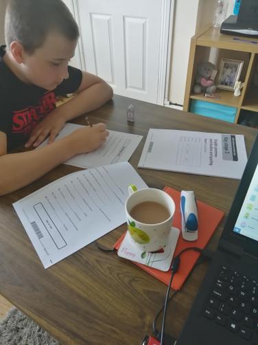 FA working very hard in mock SATs
