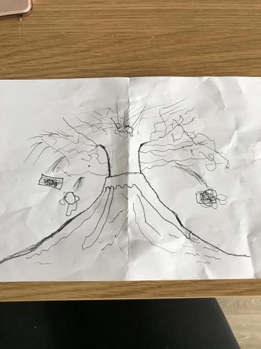 HY volcano drawing.