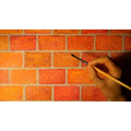 A brick wall - using rectangles