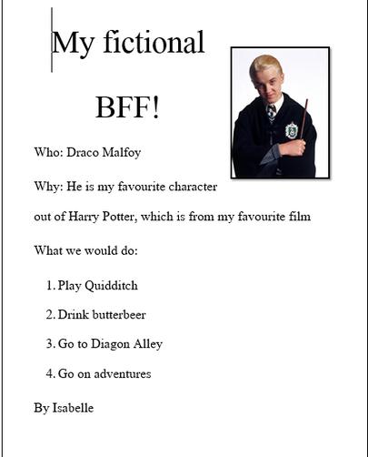 IC fictional BFF - Draco Malfoy
