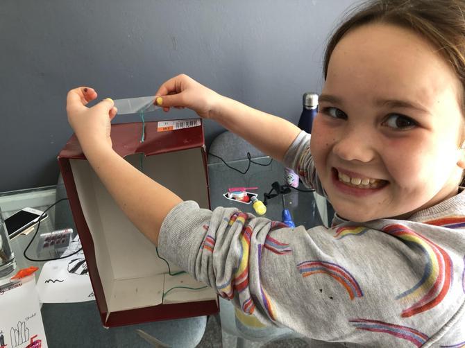 PC making her earthquake tester