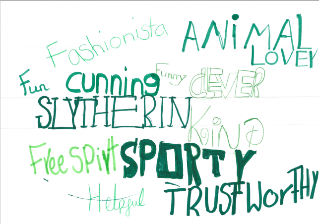 I love your Slytherin word art IC!