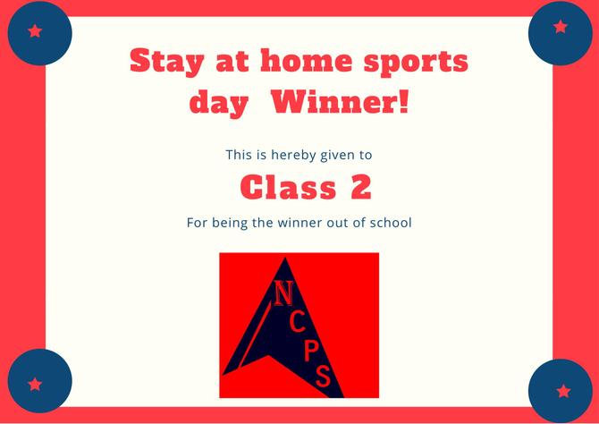 Well done class 2 for taking part at home