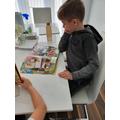 TG enjoying his reading