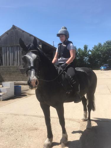 IC has returned to her horse riding lessons