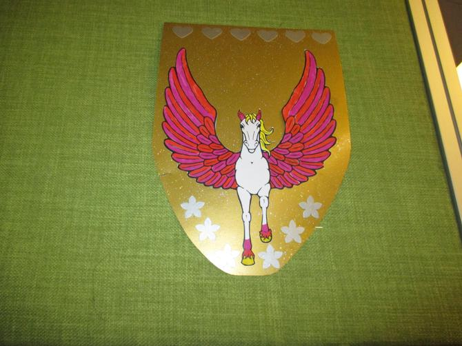 Abigail created a Pegasus shield