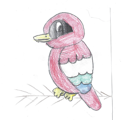 Lovely bird drawing IC