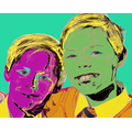 This Warhol inspired portrait it excellent!