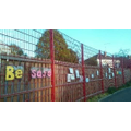Our school fence decorated by the community