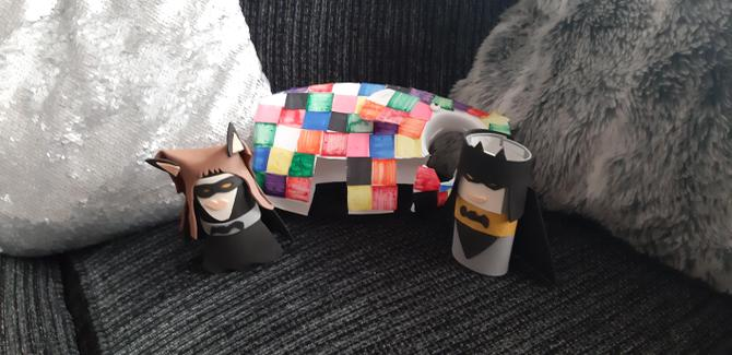 Batman and Batgirl by Mrs Warman