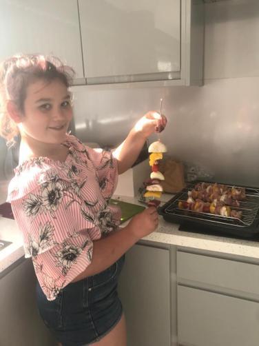 IC has been cooking kebabs. Yum!