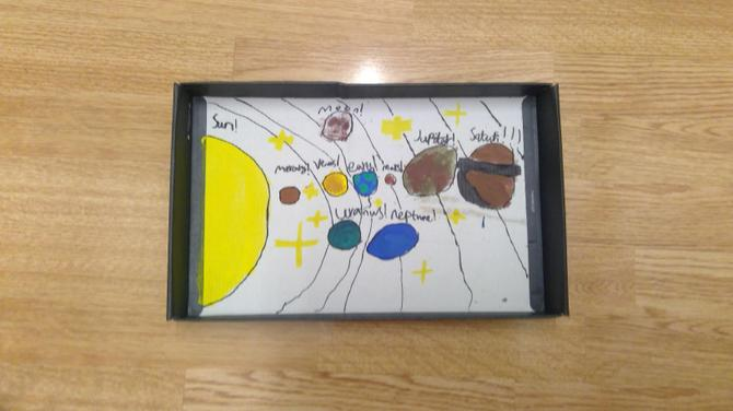 LK has completed her Solar system model