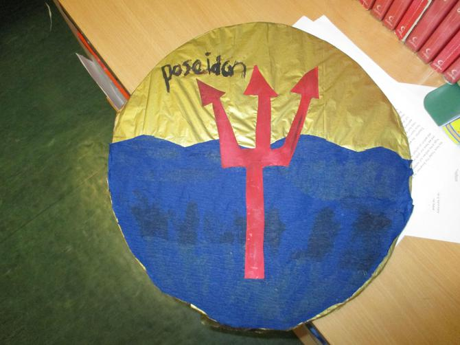Isla's fabulous Poseidon shield