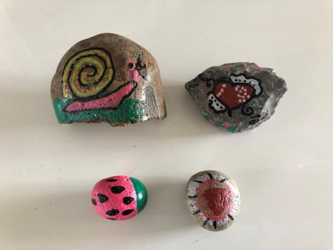 IC has been busy painting stones to lay down
