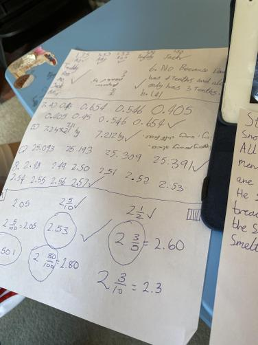 HG is keeping up with those tricky maths problems!