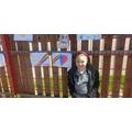 FM pics on the school fence