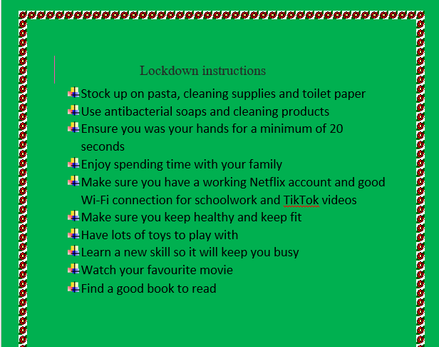 Excellent advice IC