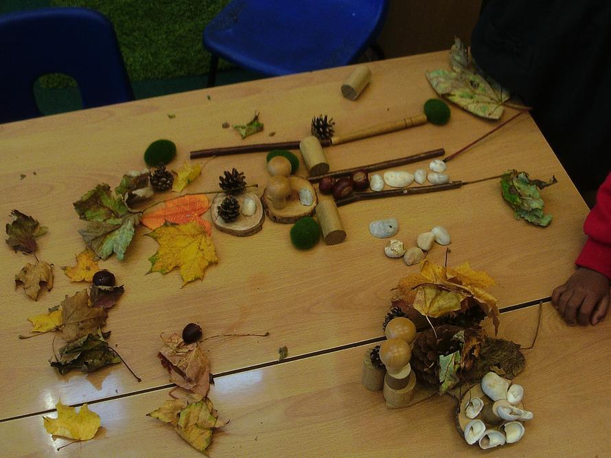 Autumn art work in Beech Class