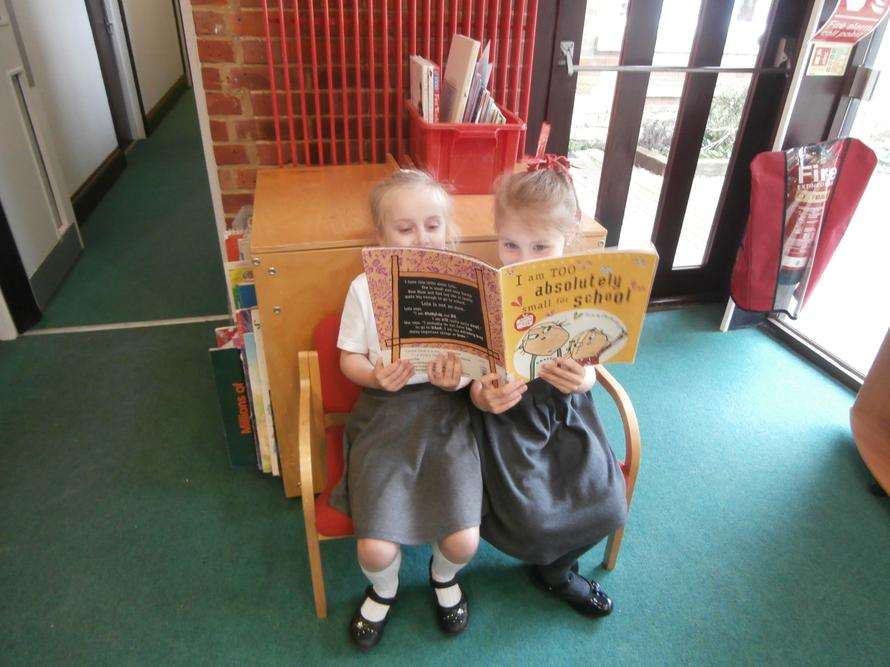 Sharing books in the library