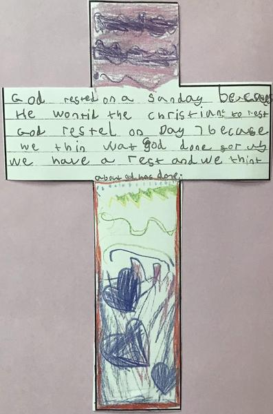 Sycamore Class have been learning about why God wanted us to rest one day a week.