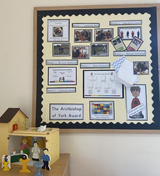 KS2 pupils' work for the Archbishop of York Award.
