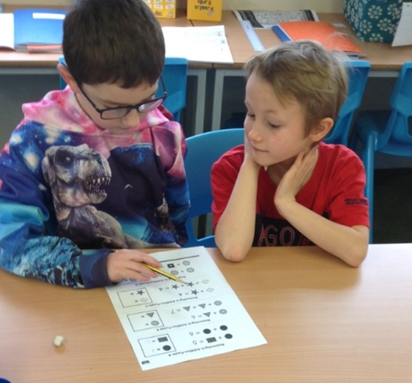 Paired problem solving for Number Day.