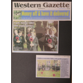 Front Page of the Western Gazette