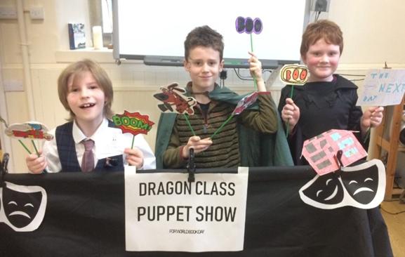 Dragon puppet show to Unicorn class