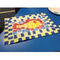 Printing Roman fish mosaics