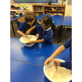 Making Harvest bread with Mrs Morgan