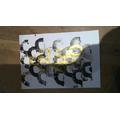 Art work using block prints we made at home!