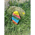 Painting stones for others to find