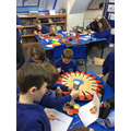 Creating our Viking shields
