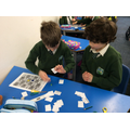 Learning is fun - here we are playing a board game about the Celts!