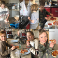 Pizza time at the MacCurrach's